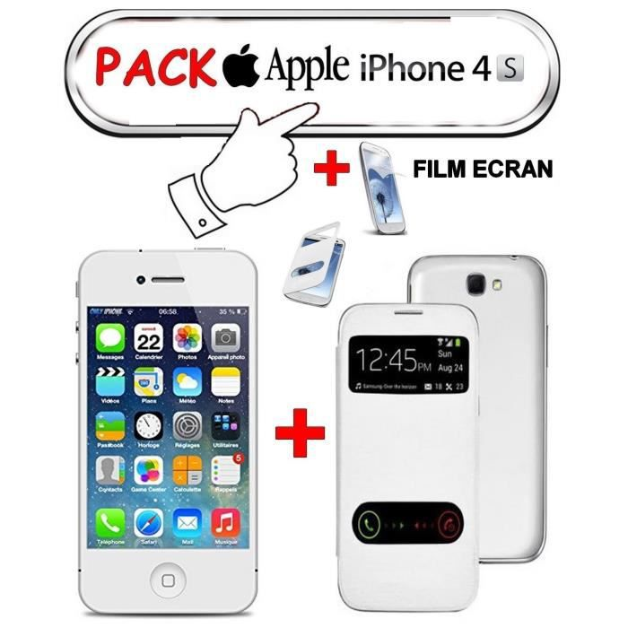 iphone 4s blanc apple 16g pack cdiscount achat. Black Bedroom Furniture Sets. Home Design Ideas