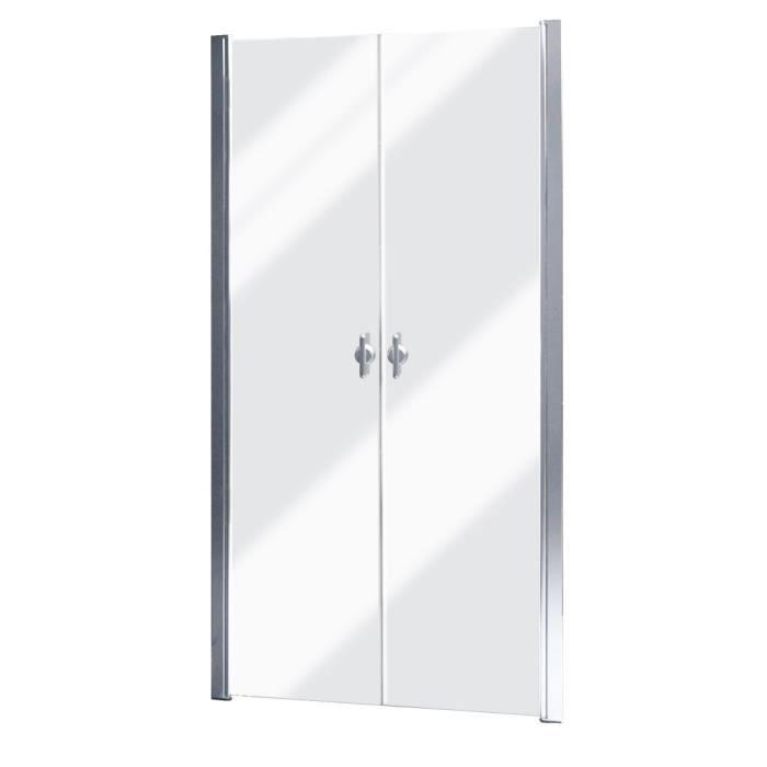 Magnifique porte de douche battante verre securit - Porte battante en verre ...
