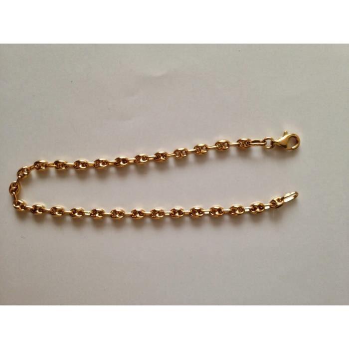 bracelet grain de caf or 750 18 carats achat vente bracelet gourmette bracelet grain de. Black Bedroom Furniture Sets. Home Design Ideas