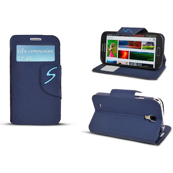 Tui inclinable bleu fen tre appel pour galaxy s4 achat for Housse causeuse inclinable