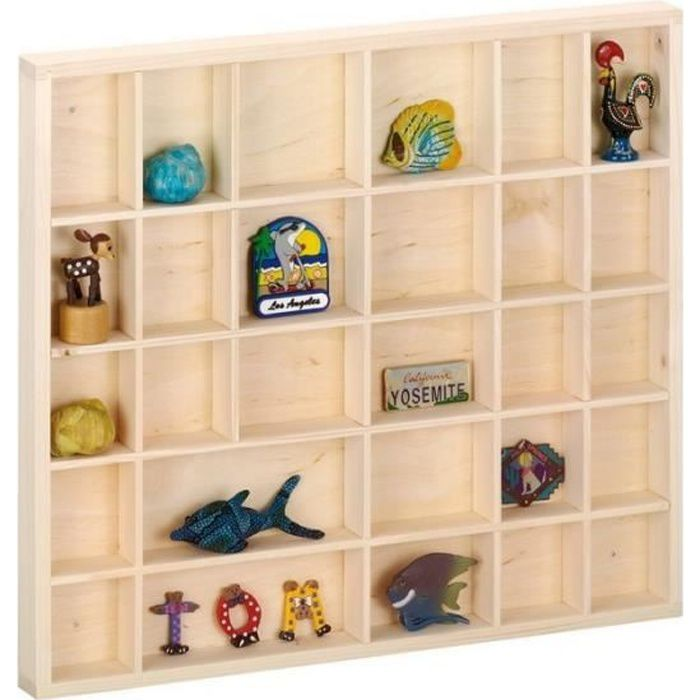 Vitrine bois miniature tag re pour collections zeller achat vente meuble tag re vitrine - Meuble vitrine pour collection ...