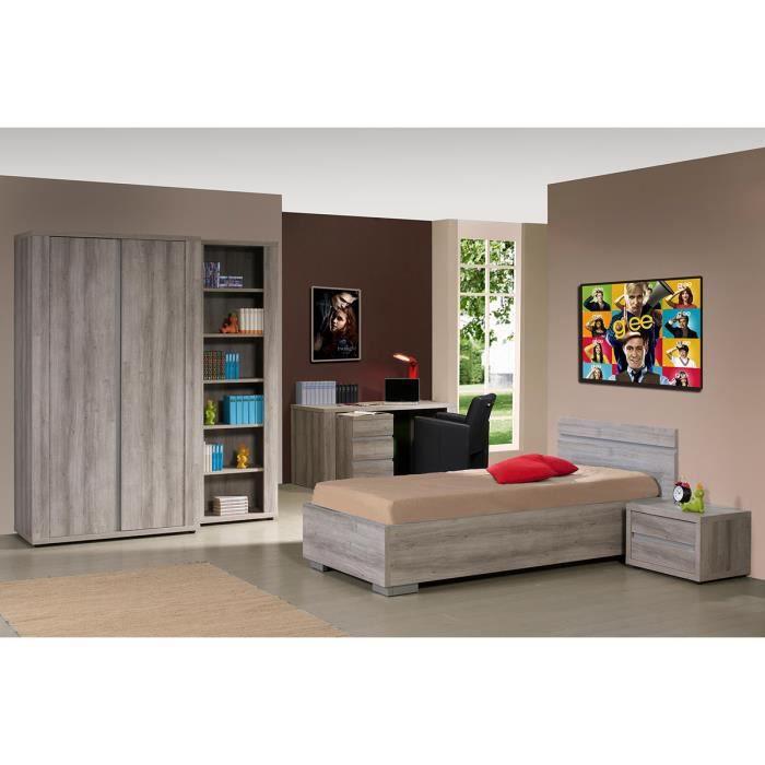 Ensemble chambre coucher compl te contemporaine avec armoire 2p coloris mar - Chambre a coucher cdiscount ...
