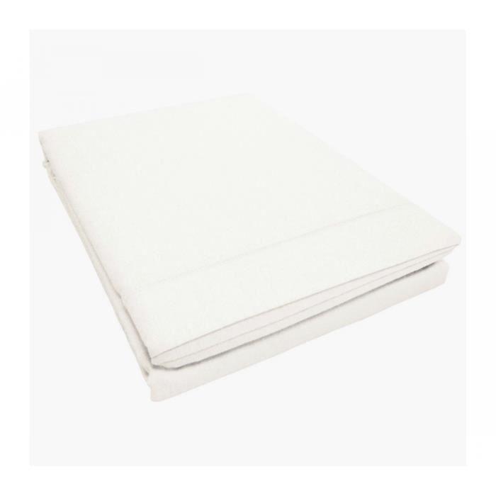 drap plat coton intimity 180x290cm blanc achat vente drap plat cadeaux de no l cdiscount. Black Bedroom Furniture Sets. Home Design Ideas