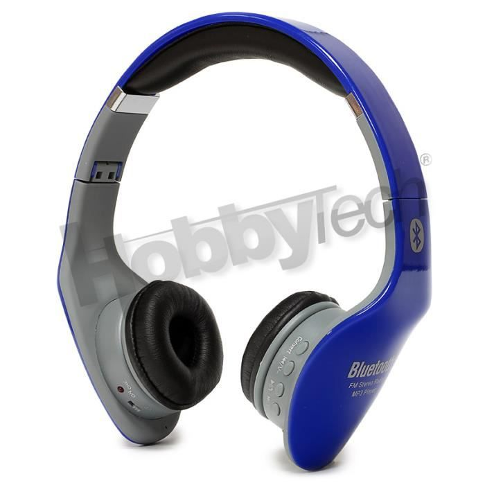 casque st r o bleu bluetooth pliable radio achat. Black Bedroom Furniture Sets. Home Design Ideas