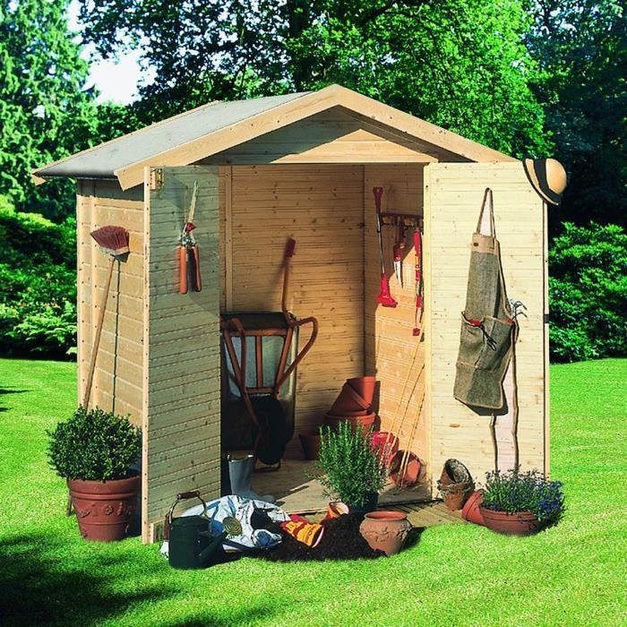 Abri jardin bois 2 90 m2 tobin 1 14mm achat vente - Abri de jardin soldes ...