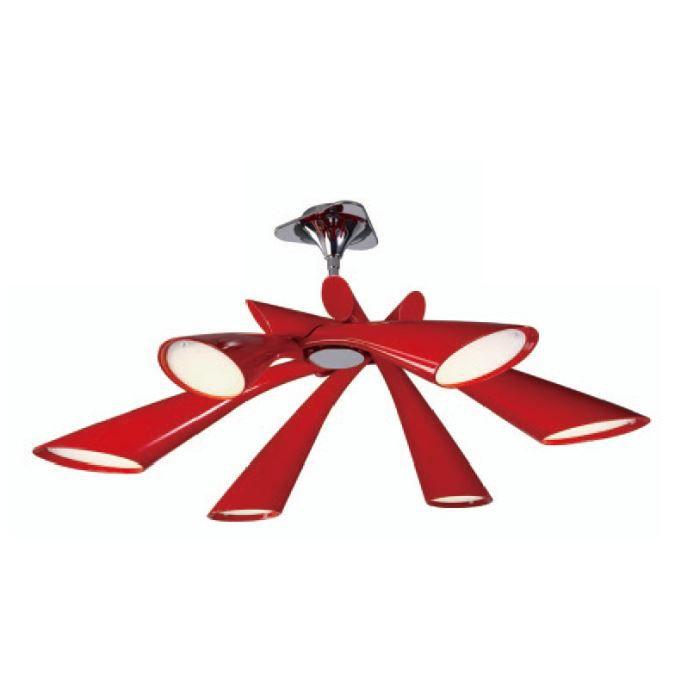 Plafonnier Pop rouge 6L Mantra Achat Vente Plafonnier