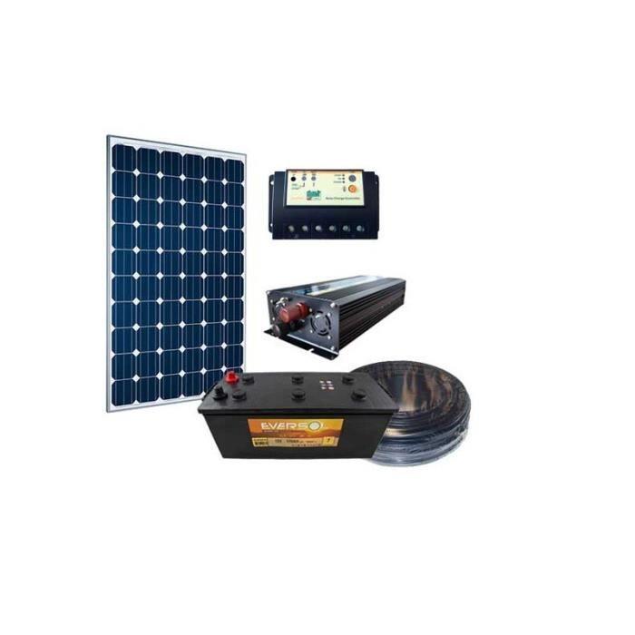 kit solaire site isol 150w 12v panneau solaire r gulateur batterie convertisseur achat. Black Bedroom Furniture Sets. Home Design Ideas