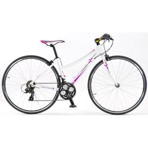 VÉLO DE COURSE - ROUTE Vélo Fitness Forme Dame Couleur - Blanc, Taille -