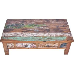 Table basse bois recycl achat vente table basse bois - Table basse bois recycle ...