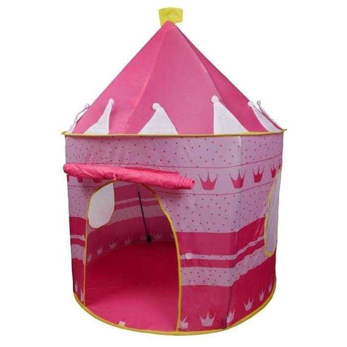 tente enfant maison princess rose achat vente tente de. Black Bedroom Furniture Sets. Home Design Ideas
