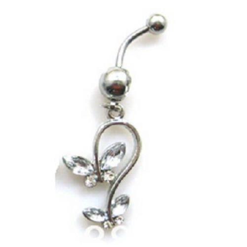 piercing papillon 2 papillons de couleur cristal bijoux de corps percing nombril achat vente. Black Bedroom Furniture Sets. Home Design Ideas