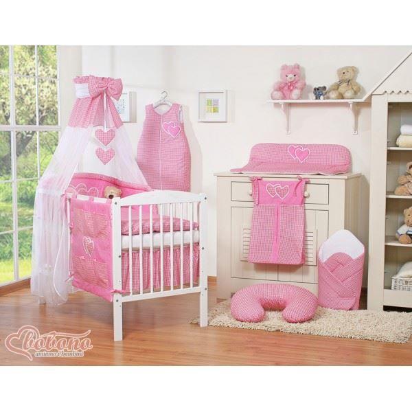 parure de lit b b compl te c ur fuschia vichy achat vente parure de lit b b 2009991999162. Black Bedroom Furniture Sets. Home Design Ideas