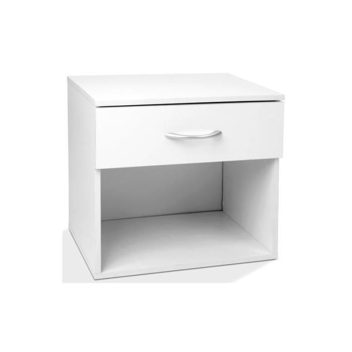 table de nuit chevet avec tiroir 1401050 achat vente chevet table de nuit chevet avec t. Black Bedroom Furniture Sets. Home Design Ideas