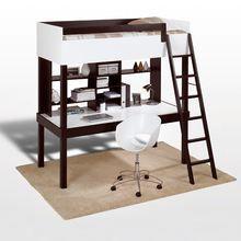 Lit mezzanine 90x190 cm bureau tag re tao achat vente lit mezzanine - Lit mezzanine 90x190 ...