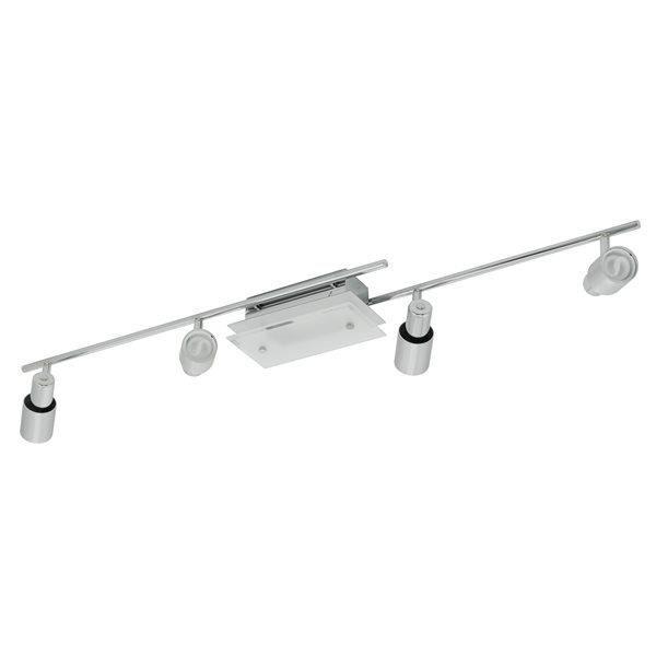plafonnier barre 4 spots orientables applique rail. Black Bedroom Furniture Sets. Home Design Ideas