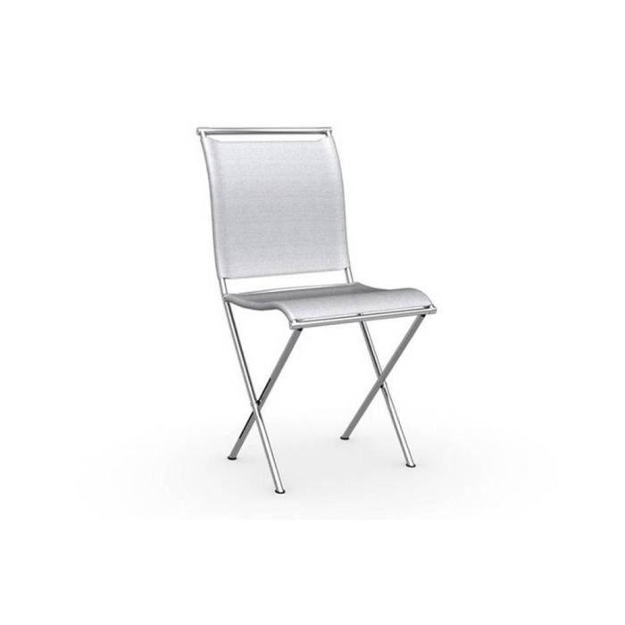 chaise pliante design air folding grise et acie achat vente chaise gris cdiscount. Black Bedroom Furniture Sets. Home Design Ideas