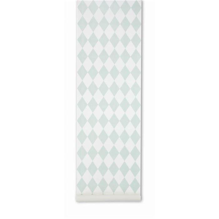 Papier peint harlequin vert menthe achat vente papier - Achat papier peint ...