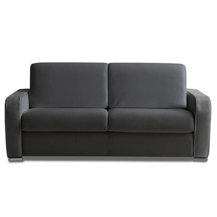 canap convertible rapido sofia 160 cm cuir vachette gris. Black Bedroom Furniture Sets. Home Design Ideas