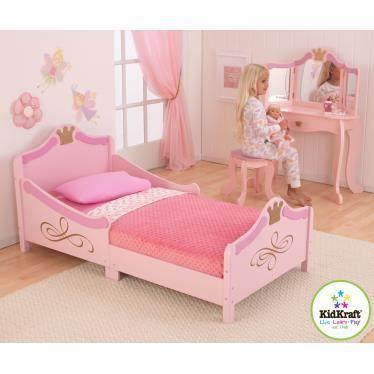 Chambre en bois princesse avec coiffeuse achat vente chambre compl te b b - Coiffeuse en bois pour petite fille ...