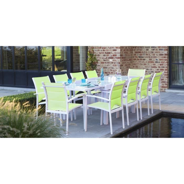 Ensemble de jardin modulo 10 fauteuils blanc ve achat for Ensemble fauteuil jardin