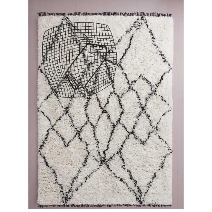 tapis salon ruffle noir 140x200 par unamourdetapis tapis moderne 140 x 200 cm noir achat. Black Bedroom Furniture Sets. Home Design Ideas