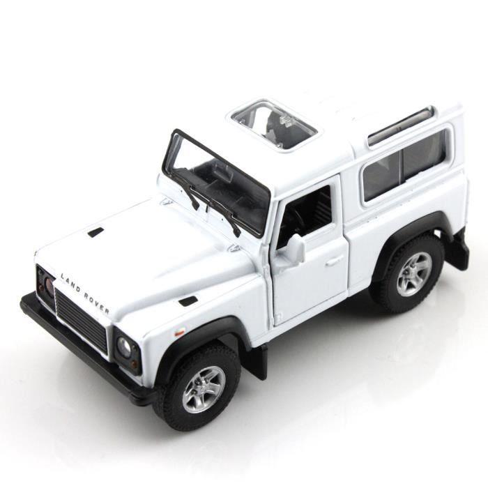 haut de gamme welly land rover defender blanc 5 chelle 1 34 42392cw mini voiture de. Black Bedroom Furniture Sets. Home Design Ideas