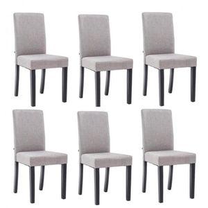 chaises de salle a manger tissus gris bois achat vente chaises de salle a manger tissus gris. Black Bedroom Furniture Sets. Home Design Ideas