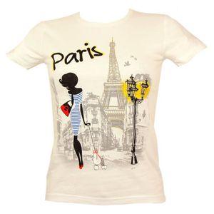 T-SHIRT Souvenirs de France - T-Shirt Femme 'La Parisienne