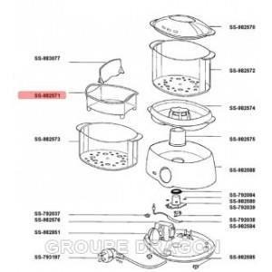 bol a riz transparent pour cuiseur vapeur seb achat vente pi ce appareil cdiscount. Black Bedroom Furniture Sets. Home Design Ideas