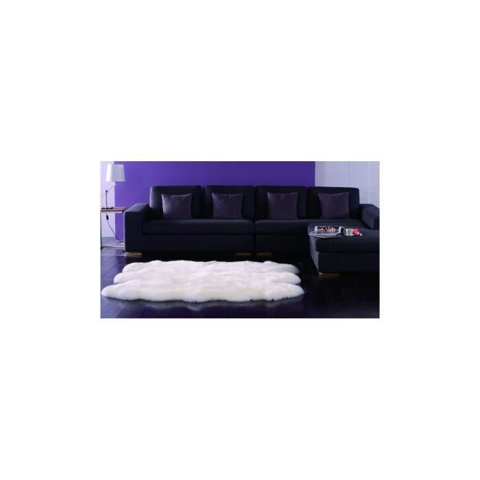 allotapis tapis avec 6 peaux de mouton assemblees ludde With nettoyage tapis avec canapé express besançon