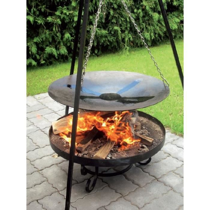 le wok feu de camp sp cial brasero sur tr pied 33 cm brasero maltavia 60 cm la po le le. Black Bedroom Furniture Sets. Home Design Ideas