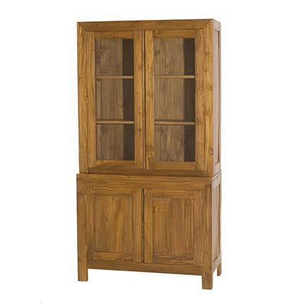 buffet vaisselier 2 portes pleines 2 portes vit achat. Black Bedroom Furniture Sets. Home Design Ideas