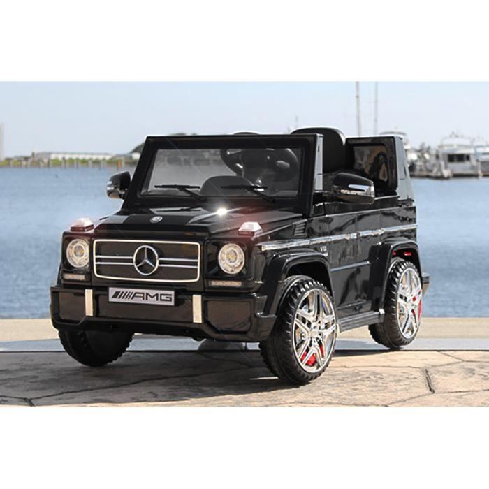 voiture lectrique pour enfant 4x4 mercedes g63 amg noir achat vente voiture cadeaux de. Black Bedroom Furniture Sets. Home Design Ideas