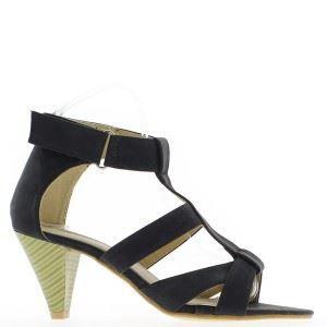 sandales noires talon de 7 cm achat vente. Black Bedroom Furniture Sets. Home Design Ideas