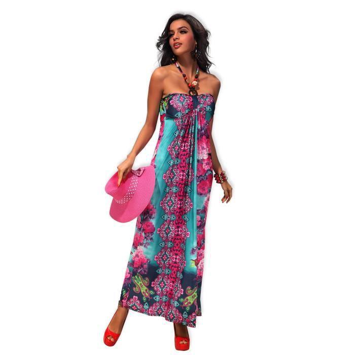 robe longue fluide coloree - Robe Longue Colore