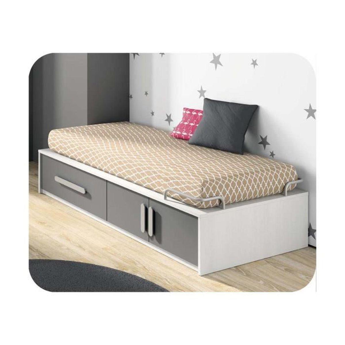 Pack lit enfant planet 90x190 cm avec sommier et matelas achat vente lit - Lit 140x190 avec sommier et matelas ...