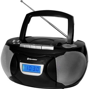 ROADSTAR RCR 3650BK Radio Cassette Portable MP3 Tuner Analogique Am/Fm Port USB Entrée Auxiliaire Fonction Horloge Prise Casque