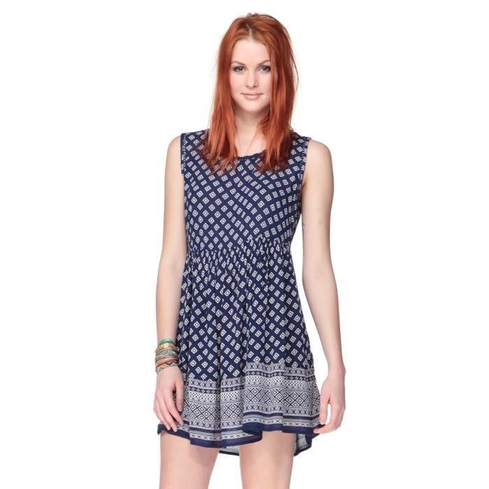 New look robe bleue femme bleu et blanc achat vente - Vente a domicile pret a porter femme ...