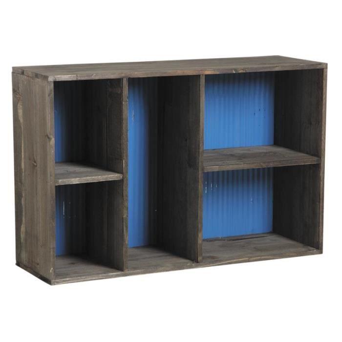 etagere bois zinc