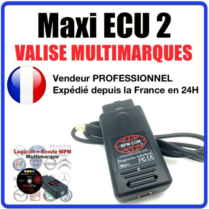 maxi ecu 2 interface mpm com version multimarqies valise de diagnostic auto professionnelle. Black Bedroom Furniture Sets. Home Design Ideas