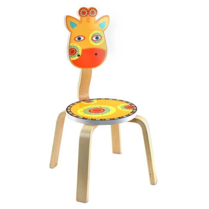 chaise enfant en bois girafe 66 cm achat vente chaise. Black Bedroom Furniture Sets. Home Design Ideas