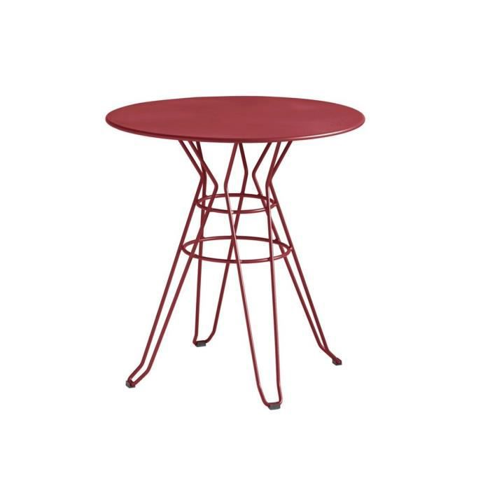 Table de jardin design ronde d90 alameda couleur bordeaux achat vente table de jardin table - Table jardin bricorama bordeaux ...