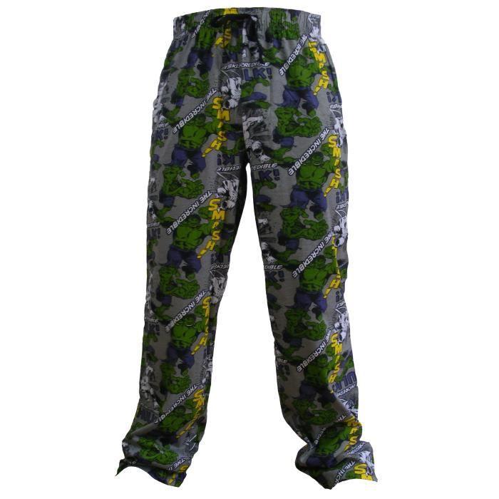 bas de pyjama motif hulk homme achat vente chemise. Black Bedroom Furniture Sets. Home Design Ideas