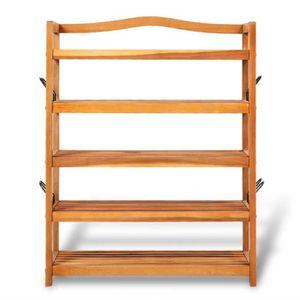 etagere bois 5 tablettes achat vente etagere bois 5 tablettes pas cher cdiscount. Black Bedroom Furniture Sets. Home Design Ideas
