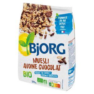 CÉRÉALES PETIT DEJ  BJORG Muesli Avoine Chocolat Bio 375g