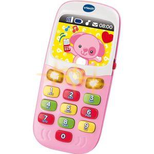 TABLE JOUET D'ACTIVITÉ VTECH Baby Smartphone Bilingue Rose