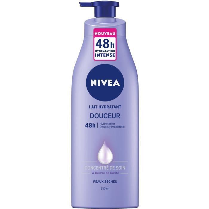 nivea body lait douceur hydratant peaux s ches 250ml achat vente hydratant corps nivea lait. Black Bedroom Furniture Sets. Home Design Ideas