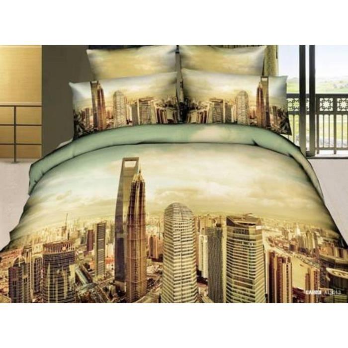parure de lit 3d 4 pi ces satin de coton linge de lit haute de gamme le parfait coffret. Black Bedroom Furniture Sets. Home Design Ideas