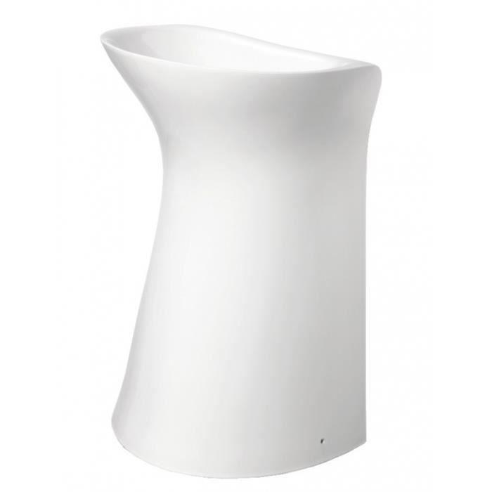 lavabo sur pied rond design blanc achat vente evier de. Black Bedroom Furniture Sets. Home Design Ideas