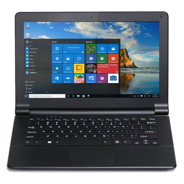 netbook ordinateur portable noir windows 10 11 6 pouces. Black Bedroom Furniture Sets. Home Design Ideas